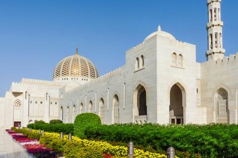 Reiseziele für Urlaub in Oman - Sultan Quaboos Moschee