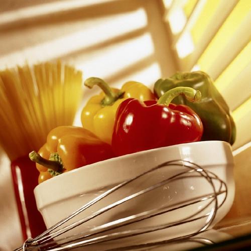 Einfache Kochrezepte: Spaghetti-Salat mit Paprika