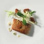 weiter zum Rezept Sterneküche - Seeteufel falafel