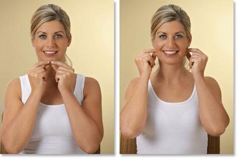 Mit Zupfmassage das Gesicht straffen Abb 1 und 2