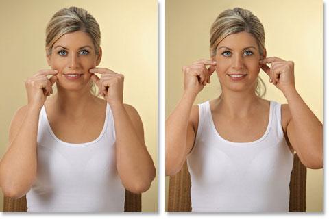 Mit Zupfmassage das Gesicht straffen Abb 3 und 4
