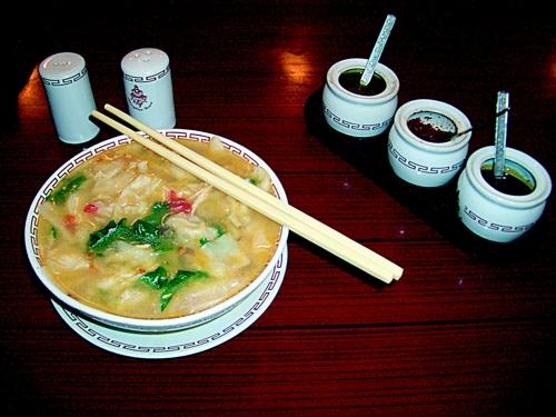 Rezept aus Tibet - Rindfleisch-Nudel-Suppe