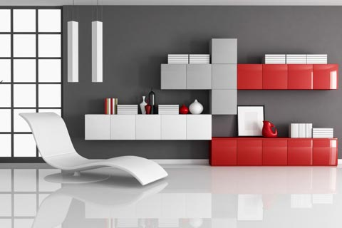 farbe grau visuelle effekte interior. Black Bedroom Furniture Sets. Home Design Ideas