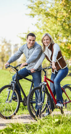 Abnehmen mit Radfahren