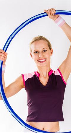 Abnehmen mit Hula Hoop Training