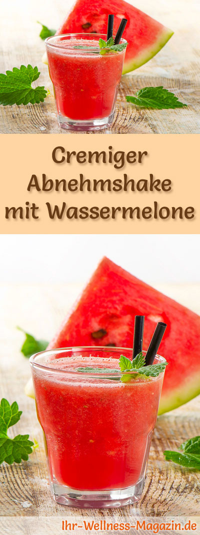 abnehmshake mit wassermelone smoothie eiwei shake zum selber machen. Black Bedroom Furniture Sets. Home Design Ideas