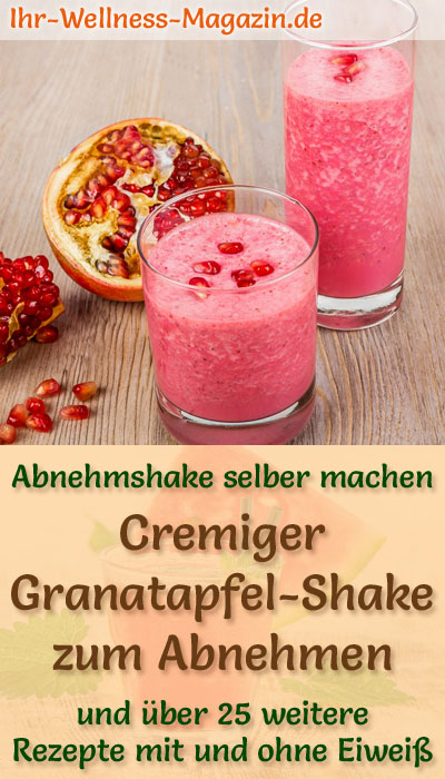 granatapfel shake smoothie abnehmshake zum selber machen. Black Bedroom Furniture Sets. Home Design Ideas