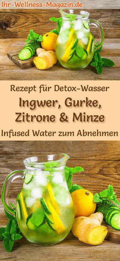 Ingwer Gurken Zitronen Minze Wasser Rezept Fur Infused Water