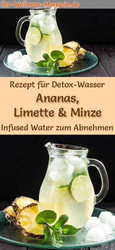 Ananas Limetten Minze Wasser Rezept Fur Infused Water Detox Wasser
