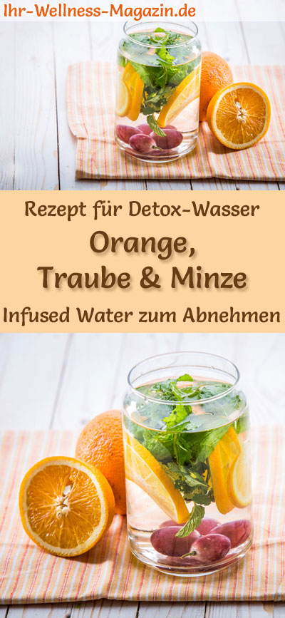 orangen trauben minze wasser rezept f r infused water detox wasser. Black Bedroom Furniture Sets. Home Design Ideas