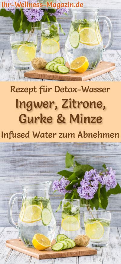 Ingwer Zitronen Gurken Minze Wasser Rezept Fur Infused Water