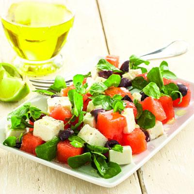 Salat Mit Wassermelone Und Feta Gesundes Diat Rezept Zum Abnehmen