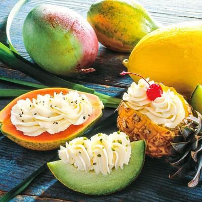 Melonen Rezept zum Abnehmen: Gefüllte Früchte mit Frischkäse