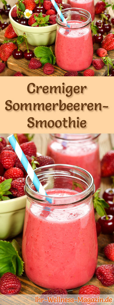 sommerbeeren smoothie gesundes rezept zum abnehmen. Black Bedroom Furniture Sets. Home Design Ideas