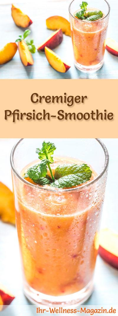 pfirsich smoothie gesundes rezept zum abnehmen. Black Bedroom Furniture Sets. Home Design Ideas