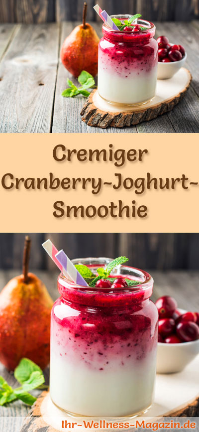 cranberry joghurt smoothie gesundes rezept zum abnehmen. Black Bedroom Furniture Sets. Home Design Ideas