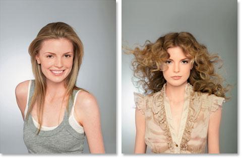 Locken selber machen - Haarfrisuren zum selber machen: Der romantische Look: Jessika vorher und nachher mit dem romantischen Look