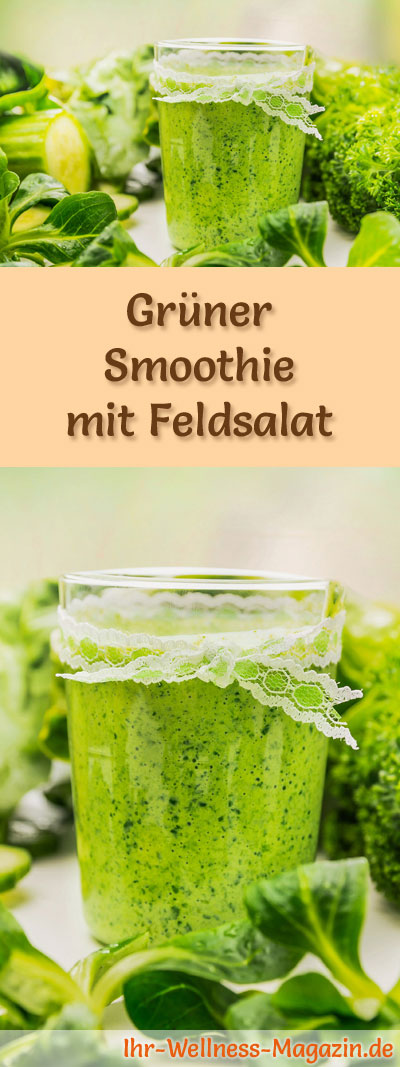 gr ner smoothie mit feldsalat gr ne smoothies rezepte. Black Bedroom Furniture Sets. Home Design Ideas