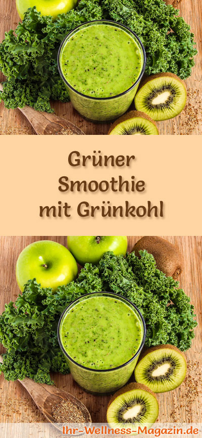 gr ner smoothie mit gr nkohl gr ne smoothies rezepte. Black Bedroom Furniture Sets. Home Design Ideas