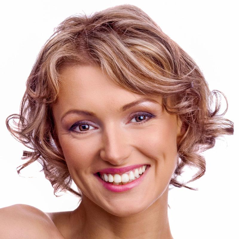 Blonde Locken Und Blonde Strähnen Blonde Kurze Haare