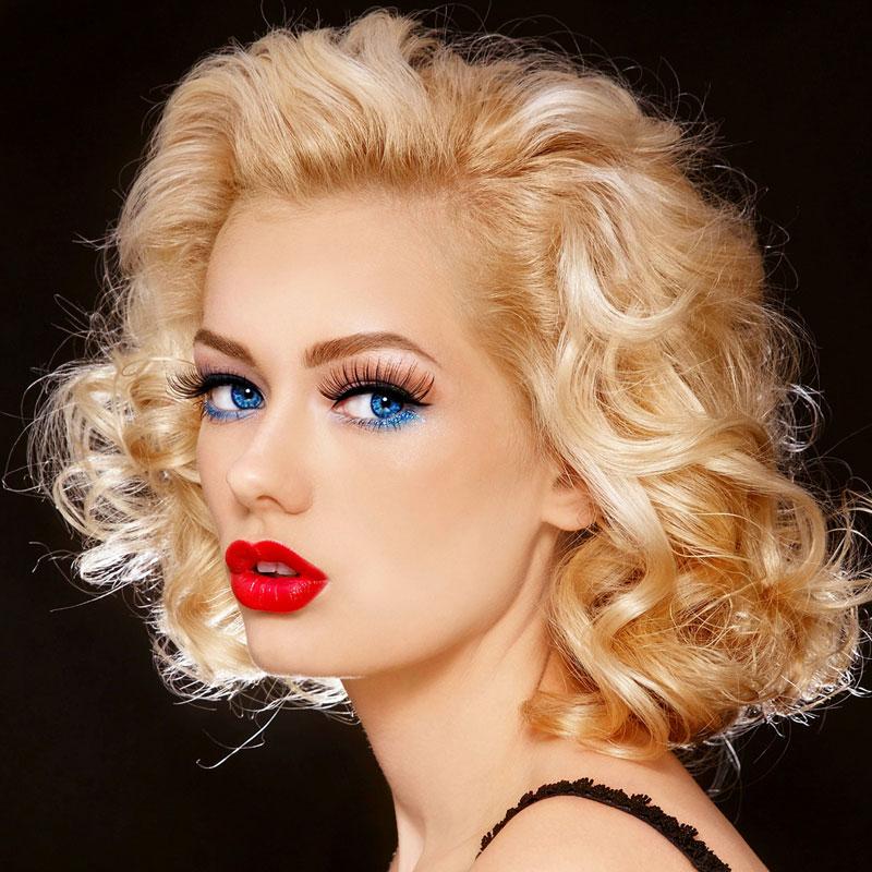 Long Bob Mit Locken Im Marilyn Monroe Look Blonder Bob
