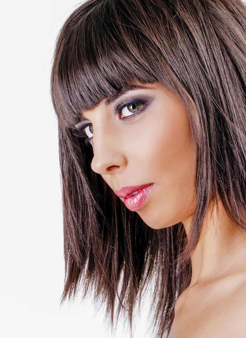 Hellbraune strähnen kurze haare