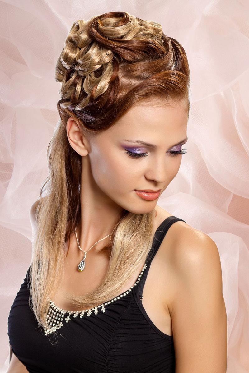 Festliche halboffene Frisur - Festliche Frisuren