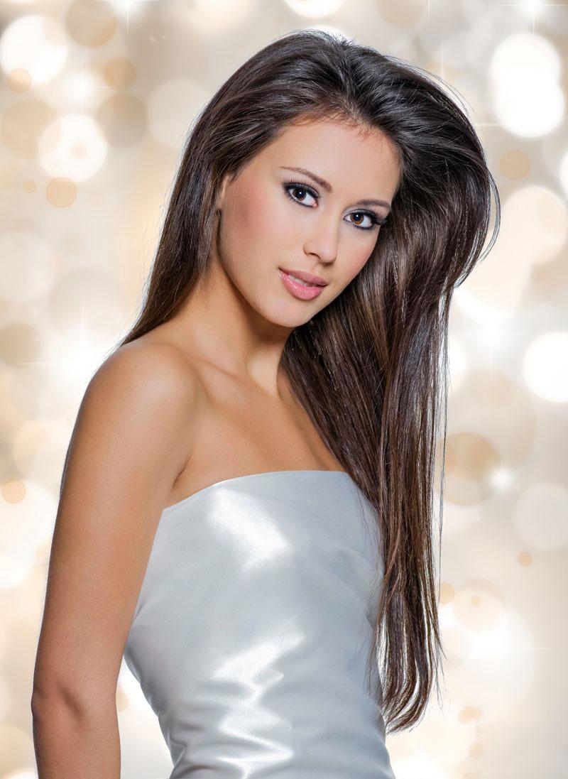 elegante frisur für extrem lange haare - glatte haare