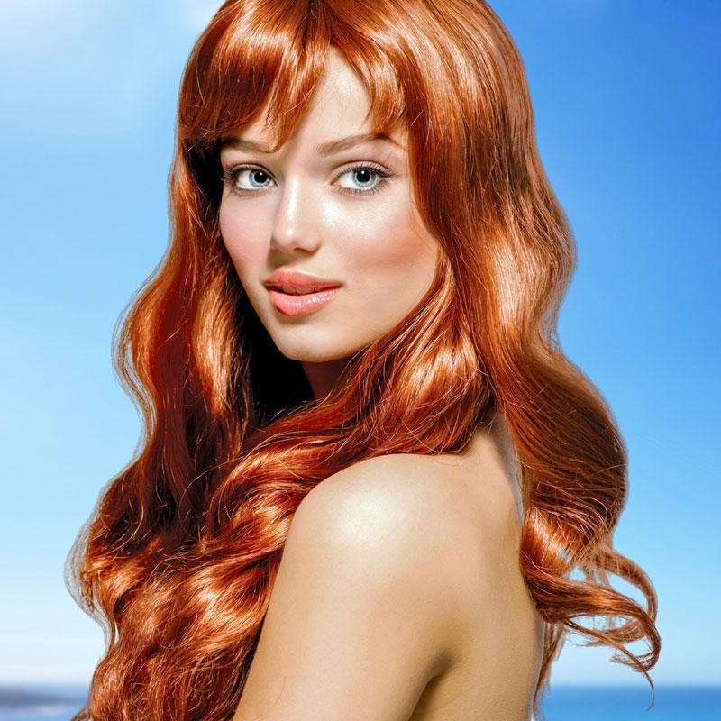 Hübsches mädchen rote haare