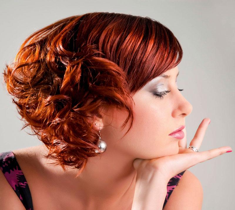 Freche Frisur Fur Kurze Rote Haare Mit Locken Rote Haare