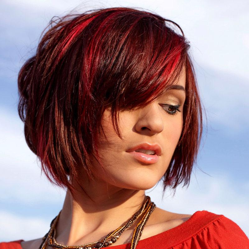 Rote Haare Mit Strähnen Rote Haare