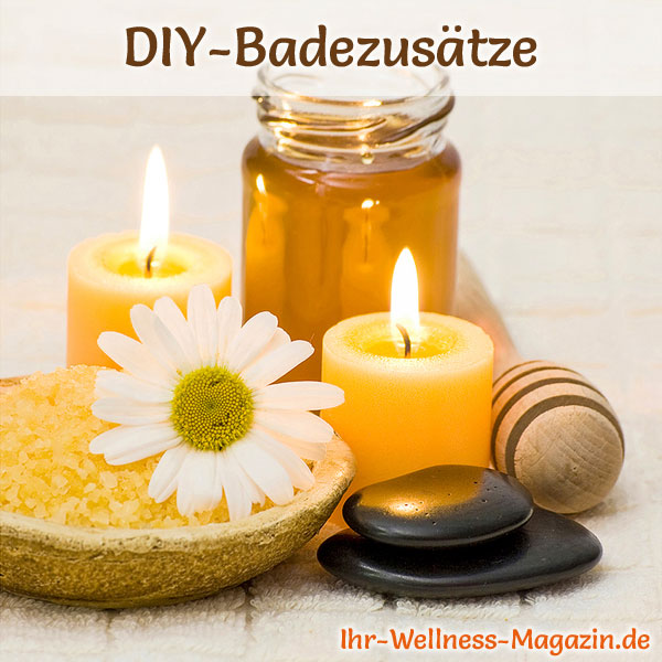 badezus tze selber machen badesalz mit honig herstellen. Black Bedroom Furniture Sets. Home Design Ideas