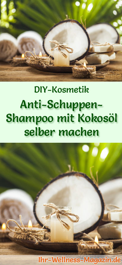 anti schuppen shampoo mit kokos l selber machen rezept anleitung. Black Bedroom Furniture Sets. Home Design Ideas