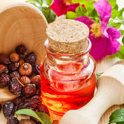 Lipgloss mit Wildrosenöl selber machen
