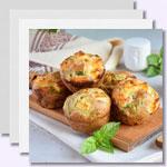 weiter zu -Herzhafte Protein-Muffins