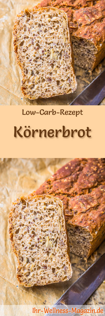 low carb k rnerbrot rezept zum brot backen. Black Bedroom Furniture Sets. Home Design Ideas