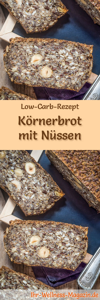 low carb k rnerbrot mit n ssen rezept zum brot backen. Black Bedroom Furniture Sets. Home Design Ideas