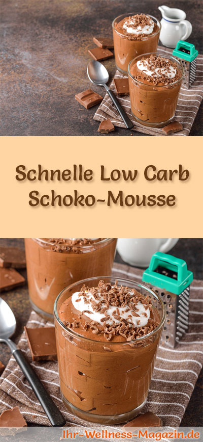 schnelles low carb schoko mousse dessert im glas rezept. Black Bedroom Furniture Sets. Home Design Ideas