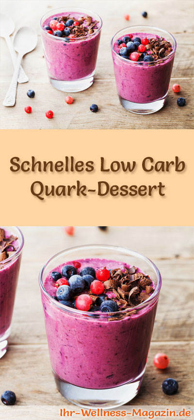 schnelles low carb quark dessert im glas rezept. Black Bedroom Furniture Sets. Home Design Ideas