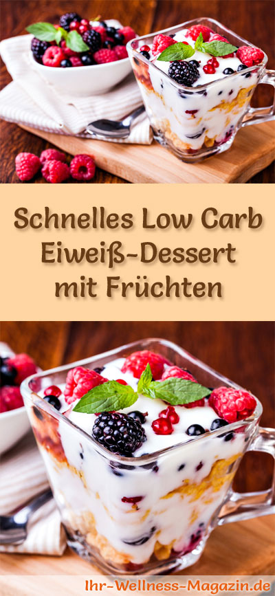 schnelles low carb eiwei dessert im glas rezept. Black Bedroom Furniture Sets. Home Design Ideas