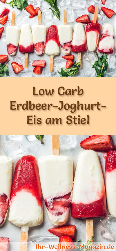 low carb erdbeer joghurt eis am stiel eisrezept. Black Bedroom Furniture Sets. Home Design Ideas