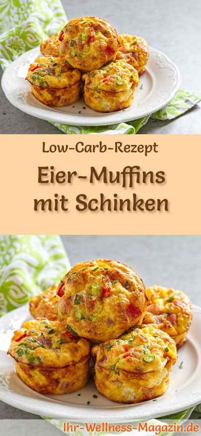 low carb eiermuffins mit schinken fr hst ck. Black Bedroom Furniture Sets. Home Design Ideas