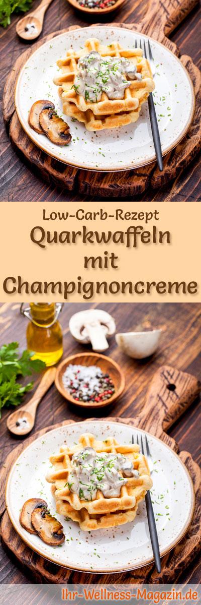 low carb quarkwaffeln mit champignoncreme fr hst ck. Black Bedroom Furniture Sets. Home Design Ideas