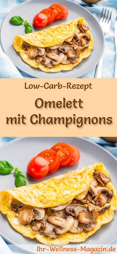 low carb omelett mit champignons fr hst ck. Black Bedroom Furniture Sets. Home Design Ideas