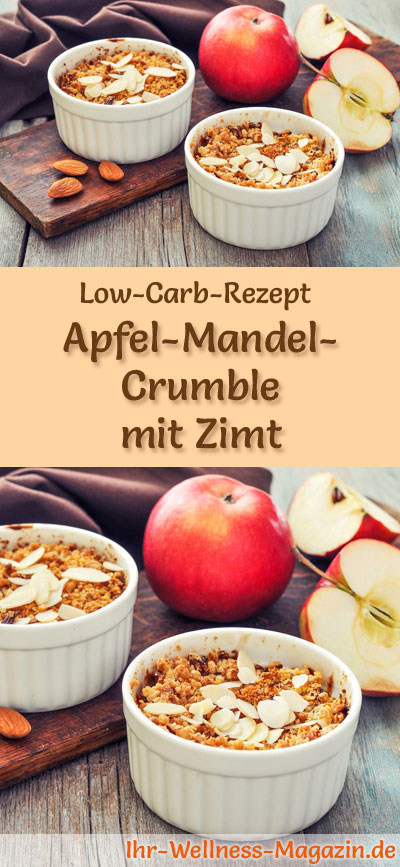 low carb apfel mandel crumble mit zimt fr hst ck. Black Bedroom Furniture Sets. Home Design Ideas