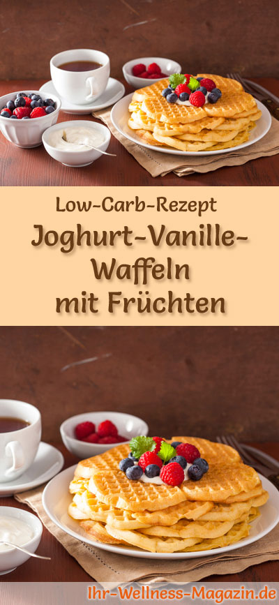 low carb joghurt vanille waffeln mit fr chten fr hst ck. Black Bedroom Furniture Sets. Home Design Ideas