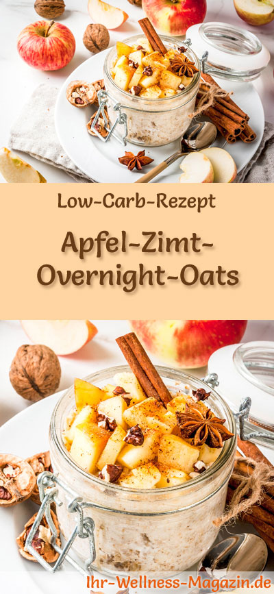 low carb apfel zimt overnight oats fr hst ck. Black Bedroom Furniture Sets. Home Design Ideas