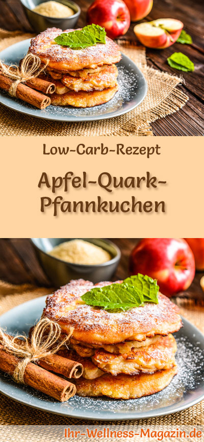 low carb apfel quark pfannkuchen fr hst ck. Black Bedroom Furniture Sets. Home Design Ideas