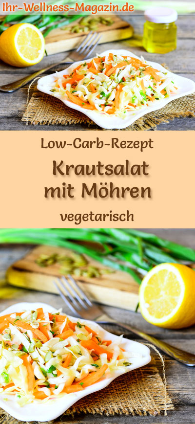 low carb krautsalat mit m hren vegetarisches hauptgericht. Black Bedroom Furniture Sets. Home Design Ideas