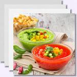 Low-Carb-Rezepte für kalte Suppen